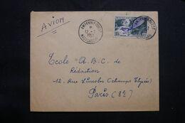MADAGASCAR - Enveloppe De Ampanihy Pour Paris En 1957 , Affranchissement Oiseaux - L 71619 - Brieven En Documenten