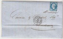 EAC N°22 Ambulant La Rochelle à Tours 1865 Eau De Vie E. Lambert Fils La Rochelle - 1849-1876: Periodo Classico