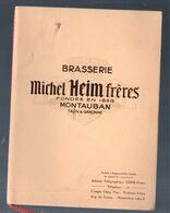 Montauban (82 Tarn Et Garonne) Beau Fascicule MICHEL HEIM  Brasserie (mais Voir La Description)  1936  (M0690) - Werbung