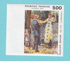 """1991 YT No. 2692 Serie Artistique, """"La Balancoire"""" Auguste Renoir - Ungezähnt"""