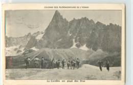 33736 - AUXERRE - CPM - COLONIE DES FLORMONTAINS DE L YONNE LA CORDEE AU PIED DES DRUS - Auxerre