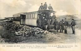 Belgique - La Panne - 14-18 - Corps De Garde Belge Dans Un Tramway - De Panne