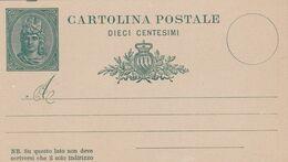 """San Marino - Intero Postale Da 10 Cent. """" Libertas Verde"""" C3 - Postwaardestukken"""