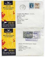 1958 - GB - ENVELOPPES 1° VOL BOAC De LONDON => CARACAS (VENEZUELA) ALLER ET RETOUR - Covers & Documents