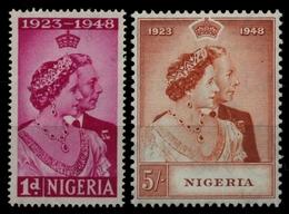 Nigeria 1948 - Mi-Nr. 64-65 ** - MNH - Silberhochzeit - Nigeria (...-1960)
