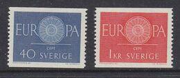Europa Cept 1960 Sweden 2v  ** Mnh (49710K) ROCK BOTTOM - 1960