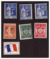 Timbre De Franchise  Militaire N° 5, 8,9,10,11,12,13 Timbres Neufs ** - Militärpostmarken