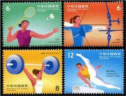 Taiwan (2020)  - Set -  /  Sports - Badminton - Gymnastics - Archery - Weightlifting - Badminton