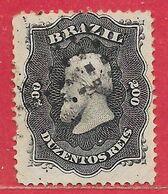 Brésil N°28 200r Noir 1876 O - Brasilien