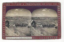 """Jérusalem  , Vue  Prise   Du Mont Des Oliviers Stéréo  """" Voyage à Jérusalem En 1906 """" - Stereoscopio"""