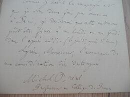 LAS Autographe Signée MICHEL BREAL Sèvres 1872 Professeur Collège France Prise Rendez Vous - Autógrafos