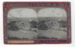 """Jérusalem  , Monticule De Jérusalem   Stéréo  """" Pélerinage  à Jérusalem En 1903  """" - Stereoscopio"""