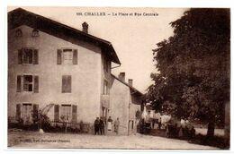 Challex - La Place Et Rue Centrale  - CPA °R - Altri Comuni