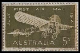 116. AUSTRALIA (5D) 1954 USED STAMP AIRMAIL . - 1952-65 Elizabeth II: Dezimalausgaben (Vorläufer)