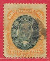 Brésil N°47 300r Orange & Vert 1878 O - Brasilien
