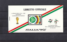 Soccer World Cup 1990 - Football - ITALY - Stamp Booklet MNH - Coupe Du Monde