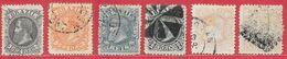 Brésil N°51 à/to 55 & 58 1882-85 O - Brasilien