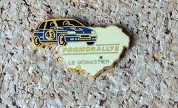 Pin's RENAULT CLIO Wiliams - Promorallye Le Monastier (43) - émaillé à Froid époxy - Fabricant BERAUDY - Renault