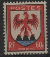FR 1606 - FRANCE N° 758 Neuf** Armoiries De Nice - Ungebraucht