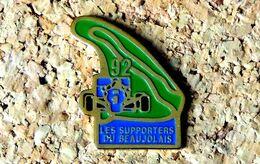 Pin's Circuit F1 - Les Supporters Du BEAUJOLAIS 1992 - Peint Cloisonné - Fabricant Inconnu - F1