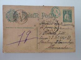 Correspondance Prisonnier De Guerre Portugal  1918 - Guerra 1914-18