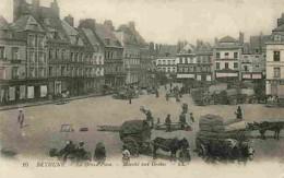62 - Béthune - La Grand Place - Marché Aux Grains - Animé - Carte Vierge - 2 Petits Trous Sur La Gauche De La Carte Voir - Bethune