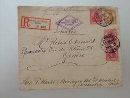 Enveloppe  De Bevingen V St Michel à Genève Recommandé 1917 - Usati