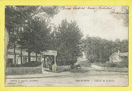 * Arcachon (Dép 33 - Gironde - France) * (Edition J. Garson) Laiterie De La Foret, Lait De Vache Vaccinée, Café, Rare - Arcachon