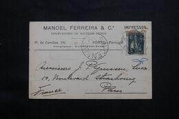 PORTUGAL - Carte Commerciale De Porto Pour Paris En 1918 Avec Cachet De Censure Portugaise - L 71687 - Covers & Documents