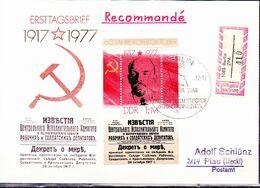 DDR GDR RDA - 60 Jahre GSOR (MiNr: Bl. 50 ) 1977 - FDC   !!lesen/read/lire!! - [6] Repubblica Democratica