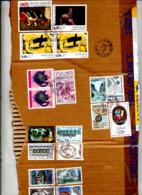 Fragment De Carton Cachet Paris 17 Sur Tapies Bacon Avignon  Etc  à Voir - Poststempel (Briefe)