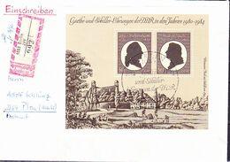 DDR GDR RDA - Goethe-Schiller-Ehrung (MiNr: Bl. 66 ) 1982 - FDC   !!lesen/read/lire!! - FDC: Briefe