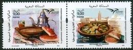 Maroc / Morocco 2020 - Euromed Postal - La Gastronomie Traditionnelle Méditérranéénne - 2 Timbres Neufs** MNH - Morocco (1956-...)