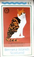 Big Cats Tortoiseshell And White BF Mnh Bernera Island  Imperfect Bloc - Félins
