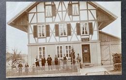 Säriswil Post-Ablage/ Altes Haus/ Postbote Mit Leuten/ Alte Fotokarte - BE Berne