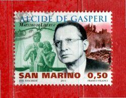 S.Marino ° - 2011 - ALCIDE De GASPERI .  Unif. 2339.  Usato - Gebraucht