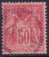 *RARE* 50c Sage Type II Cachet Perlé TRIPOLI BARBARIE (Y&T N° 98, Cote +++€) - 1876-1898 Sage (Type II)