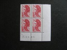 E). TB Bloc De 4 Coin Daté:  04.04.1985 Du N° 2319, Neuf XX . - 1980-1989