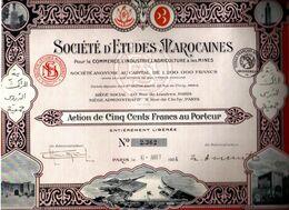 Sociètè D'ETUDES MAROCAINES Pour Le Commerce L'Industrie L'agriculture & Les Mines - Industrie