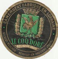 Ancienne étiquette De Fromage Boscher Neuvilly En Argonne  Meuse  (rare) - Käse