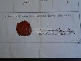 ZA317.10  Old Document - Slovakia  BROSZÉK  -Liptó Vm. Szepesség - Joannes GEZSIK - (Szekej) Georgius Paczák - Vozarik - Geboorte & Doop