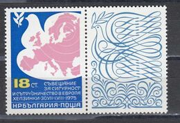 Bulgaria 1975 - Conference On Security And Cooperation In Europe (CSCE), Mi-Nr. 2434Zf., MNH** - Bulgarije