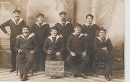 """CARTE PHOTO CROISEUR  """" DU CHAYLA """"  MARINS CAMPAGNE 1914-1915 - Guerre"""