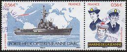 France Oblitération Cachet à Date N° 4423 Et 4424 ** Porte Hélicoptère Jeanne D'Arc Et Ses Marins - Usados