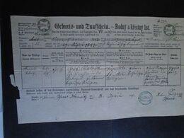 ZA318.1  Old Document -  Czechia  Obrowith Brünn -  Zábrdovice -Brno -  Arnold Adolf WATRICH   1871 - Geboorte & Doop