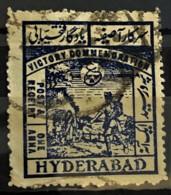 HYDERABAD 1946 - Canceled - Sc# 51 - 1a - Hyderabad