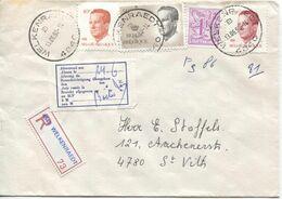 REF1784/ TP Baudouin Velghe + TP S/L.Recommandée Welkenraedt 13/6/90 > St.Vith étiquette Trilingue Absent....c.St.Vith - Covers & Documents
