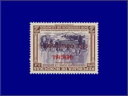 C. Colomb - Année: 1953 - HONDURAS,YV. SERVICE PA 21,SURCHARGE RENVERSEE,XX,SIGNEColomb* Reçu à La Cour. - Christoffel Columbus