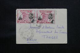 CAMBODGE - Petite Enveloppe Pour Le Maroc ( Tanger ), Affranchissement Recto Et Verso - L 71753 - Camboya