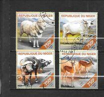 TIMBRE OBLITERE DU NIGER DE 2014  N° MICHEL 2830/33 - Níger (1960-...)